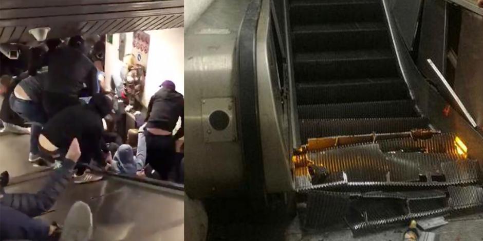 VIDEO: Desplome de escalera eléctrica en metro de Roma deja 20 heridos