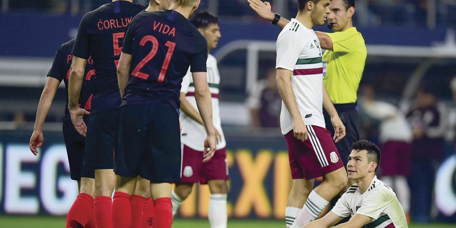 México pierde 1-0 y a dos de sus titulares, de cara a Rusia