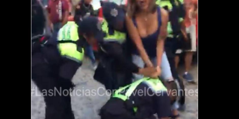 Detienen a Fernanda Familiar en San Miguel de Allende; quiso entrar a calle cerrada