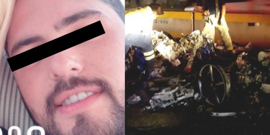 Identifican al conductor del Ferrari en el que murieron dos colombianas