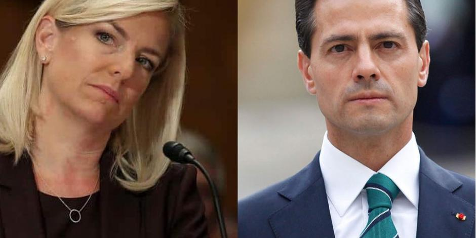 DIPLOMACIA Kirstjen Nielsen, Secretaria de Seguridad Nacional de Estados Unidos se reúne a esta hora con el Presidente Peña Nieto. Este lunes firmó
