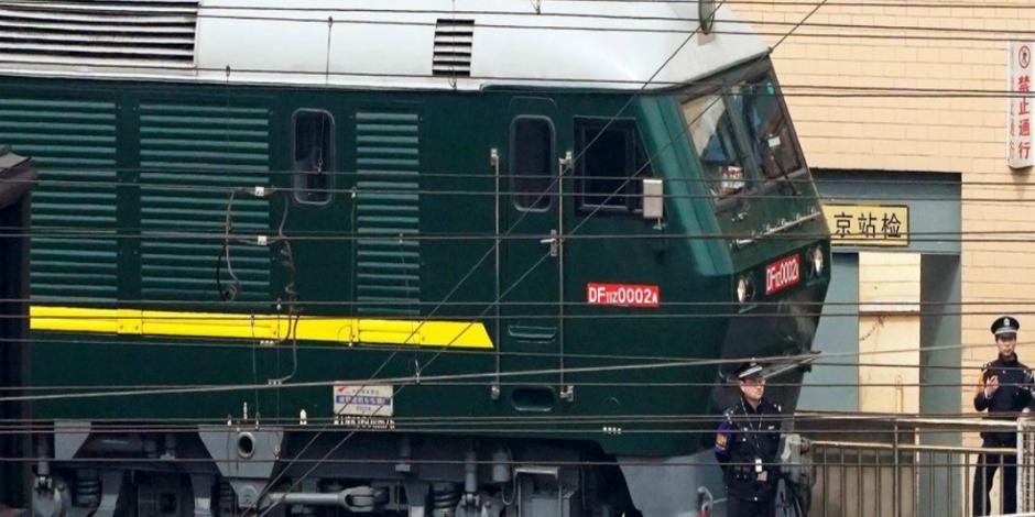 Tren norcoreano sale de China; aviva rumor sobre visita de Kim Jong