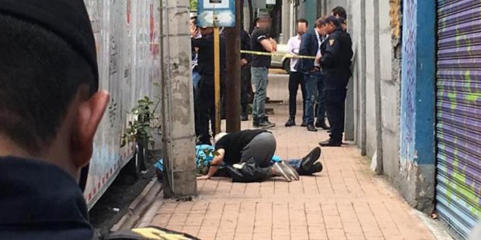 Asesinan a un hombre con disparo a la cabeza en Miguel Hidalgo