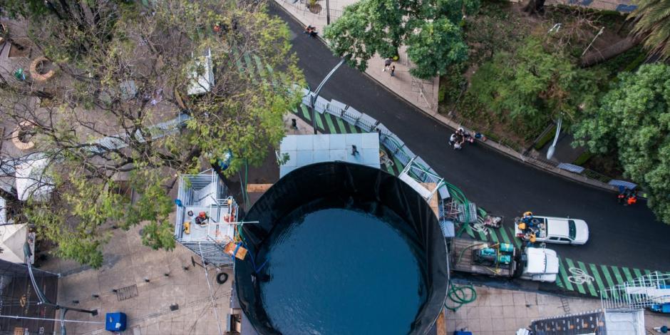 Por fugas en la fosa de clavados, cancelan evento en Reforma