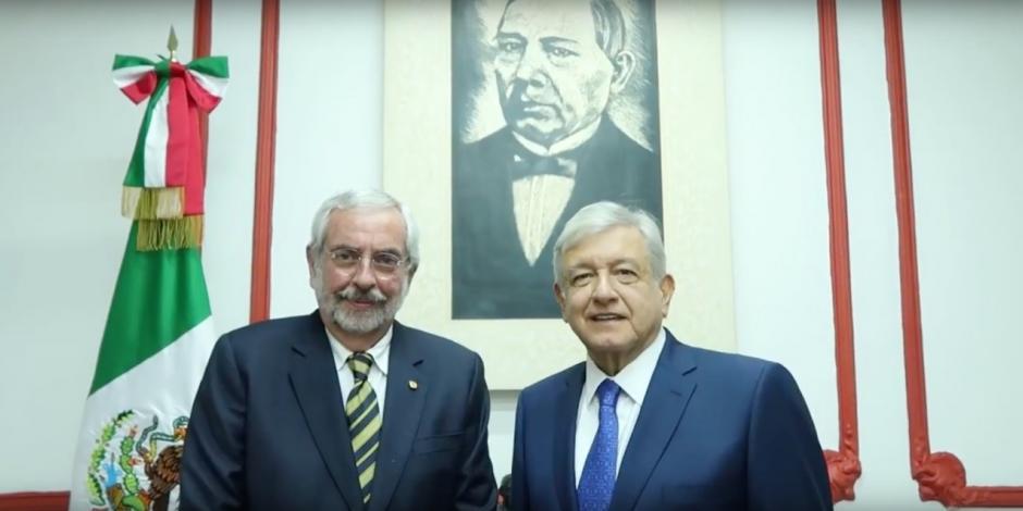 Reestructurar área de vigilancia de la UNAM, anuncia Graue tras reunión con AMLO