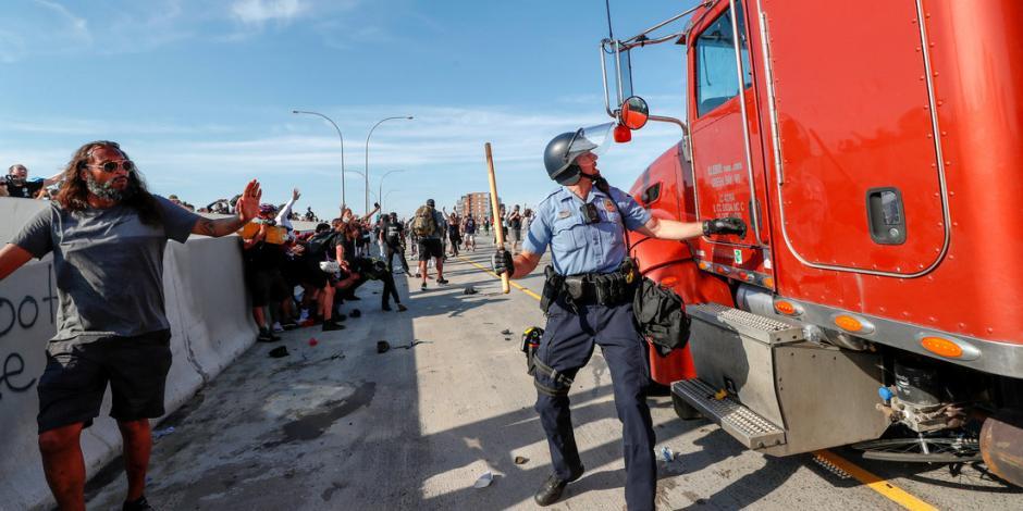 camión protestas Estados Unidos