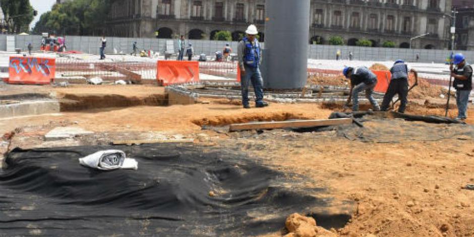 """Cubrirán """"primer Zócalo"""" para continuar obras de remodelación"""
