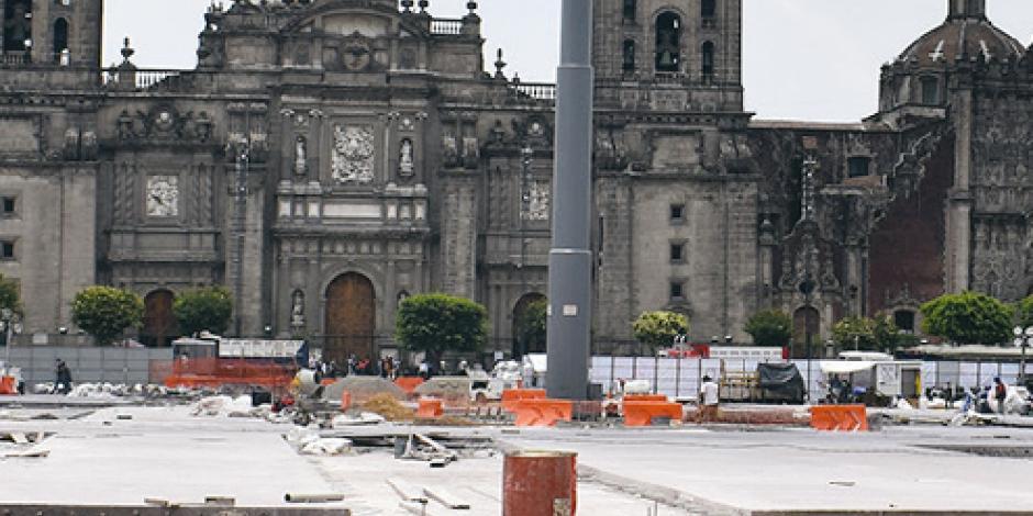 Avanza obra en 2do. cuadrante del Zócalo
