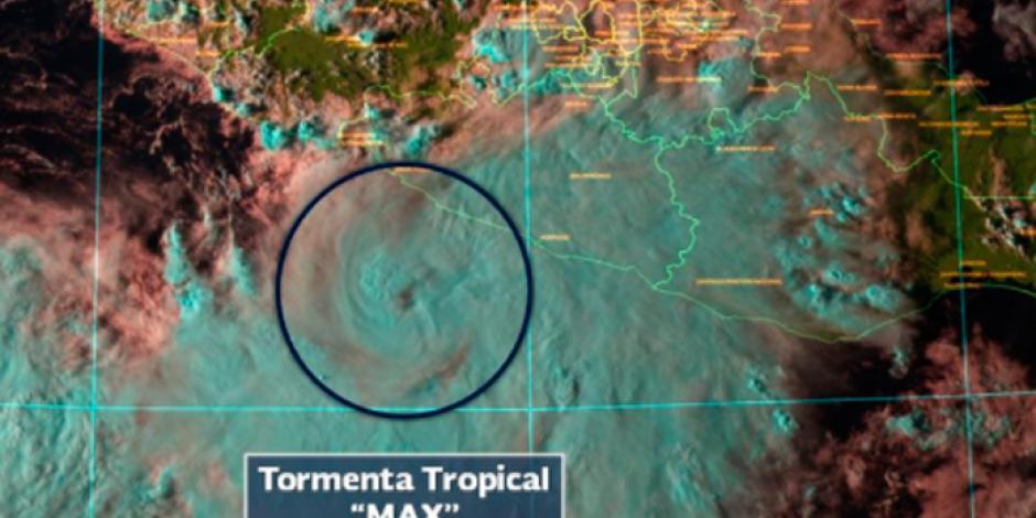 Se forma tormenta tropical <em>Max</em>; alertan a 8 estados del país