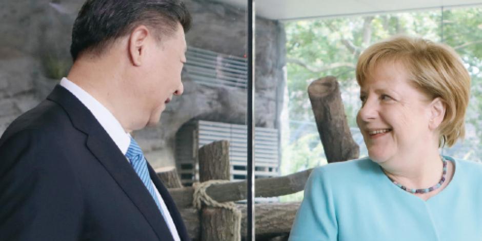 Merkel ve en Xi un aliado contra la incertidumbre