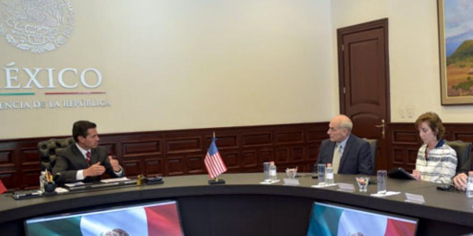 Corresponsabilidad, fundamental en combate al crimen organizado,  afirma EPN a Kelly