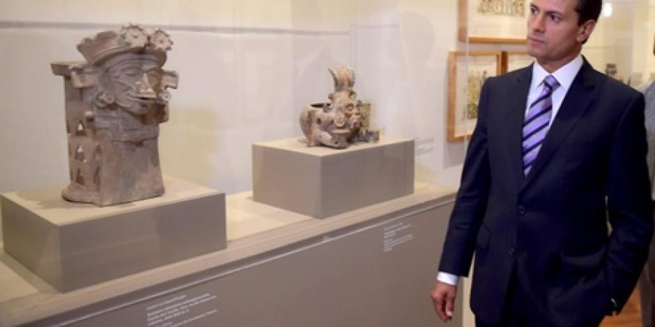 Visita EPN exposición de Rivera y Picasso en Bellas Artes
