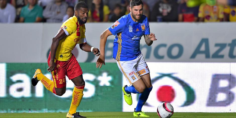 Morelia y Tigres regalan gritos de gol con entretenido empate 3-3