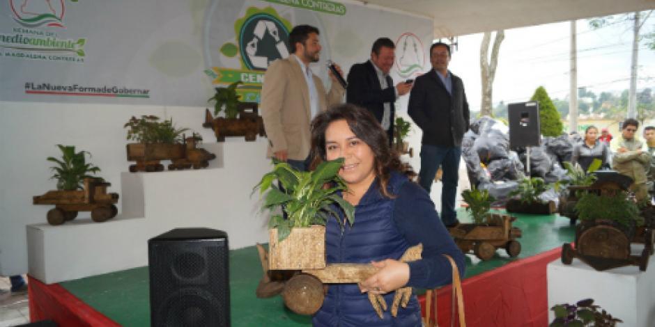 Arranca intercambio de PET  por plantas en la Magdalena Contreras