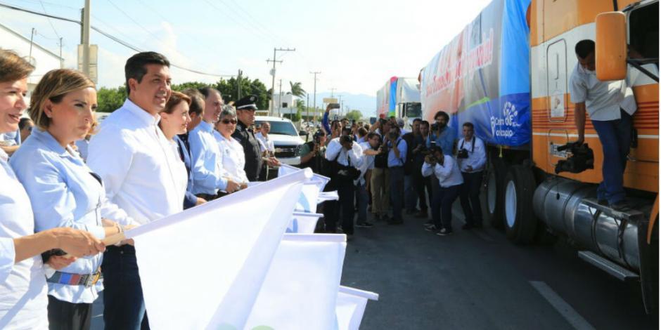 Tamaulipecos recaudan 206 toneladas de ayuda para Chiapas y Oaxaca