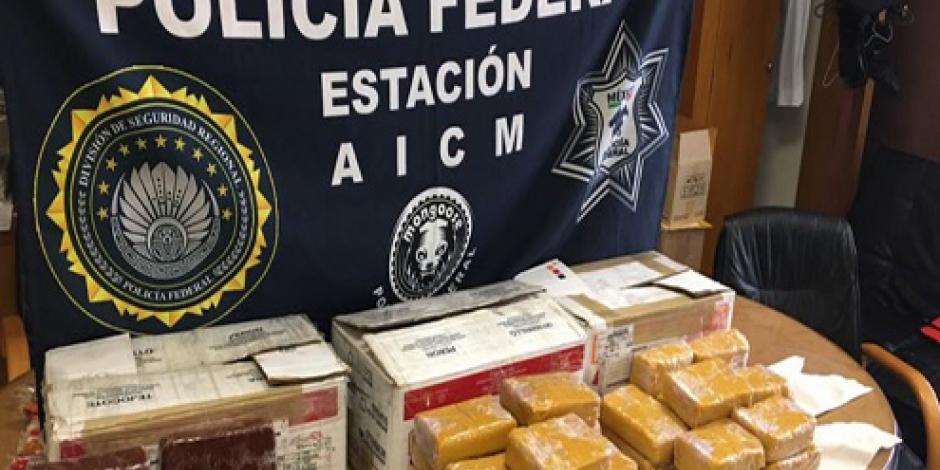 Policías del aeropuerto de la CDMX detecta metanfetaminas en dulces típicos mexicanos
