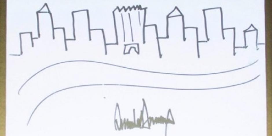 Dibujo de Trump se vende en más de 29 mil dólares