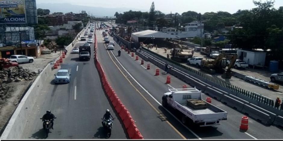 Abren a la circulación un cuarto carril en Paso Exprés de Cuernavaca