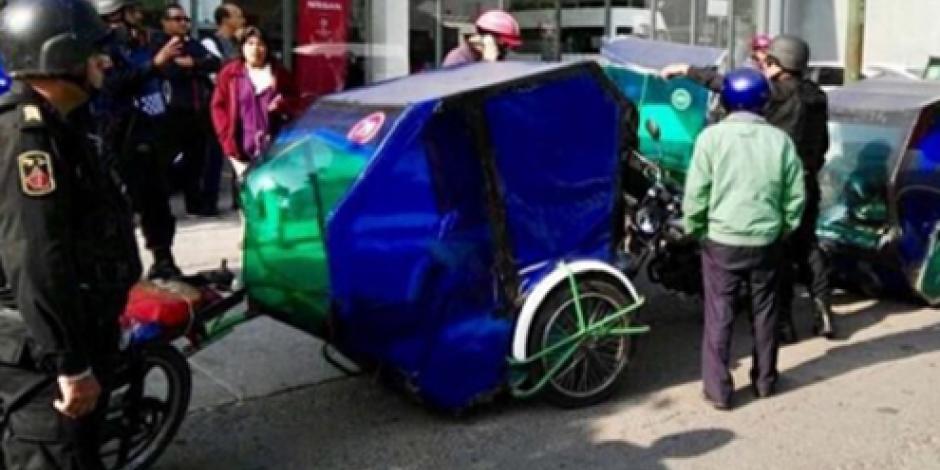 Recibe CDHDF 11 quejas por operativos contra mototaxis
