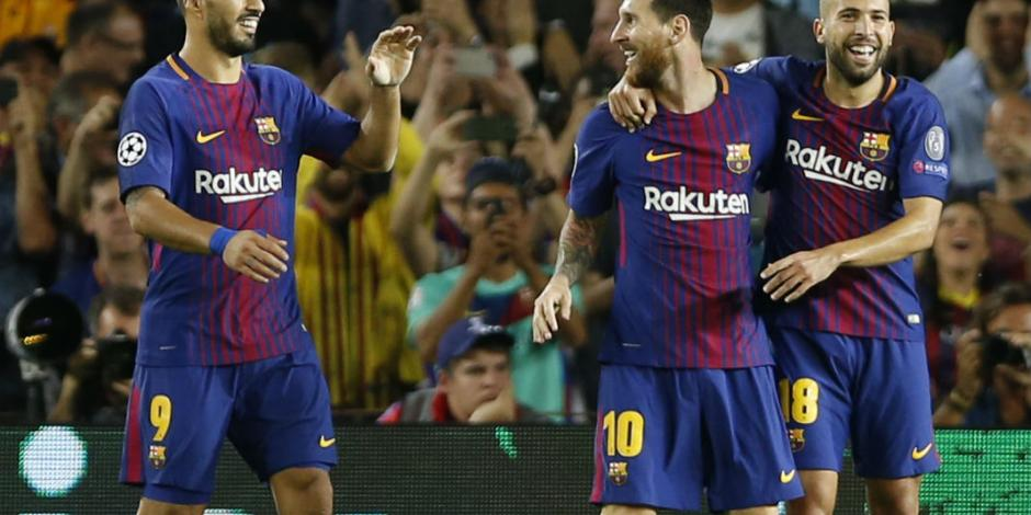Con doblete de Messi, Barcelona golea a la Juventus