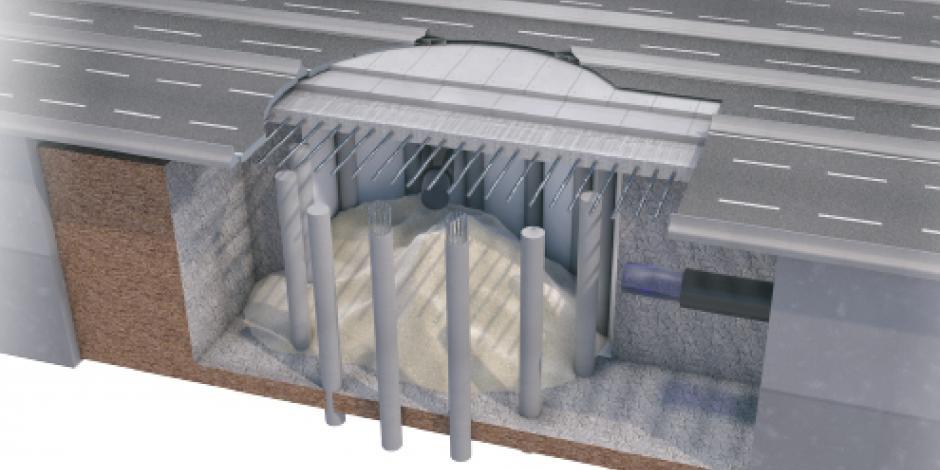 De concreto y acero la estructura que eliminará socavón