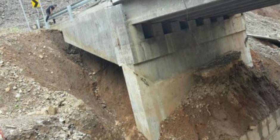 Colapsan 2 puentes en Guerrero; 6 pueblos incomunicados