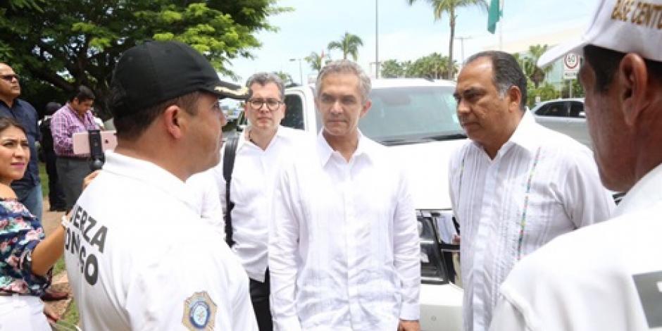 Inspecciona Mancera operativo de seguridad en Acapulco