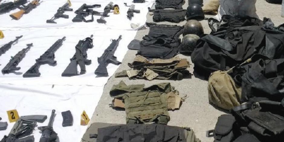 ONU: vía EU entran cada día a México 2 mil armas ilegales