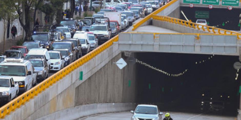 El primer doble túnel de la CDMX