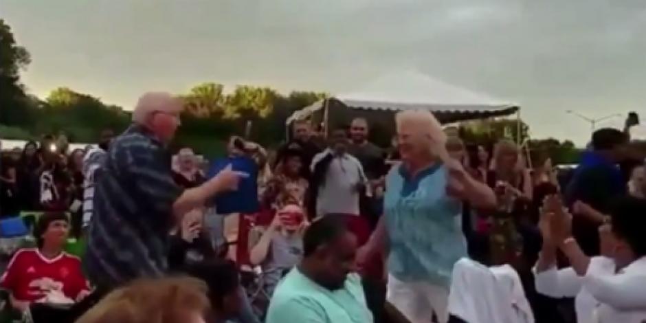 Abuelos bailan al ritmo de Hip-hop en el festival Lollapalooza en EU