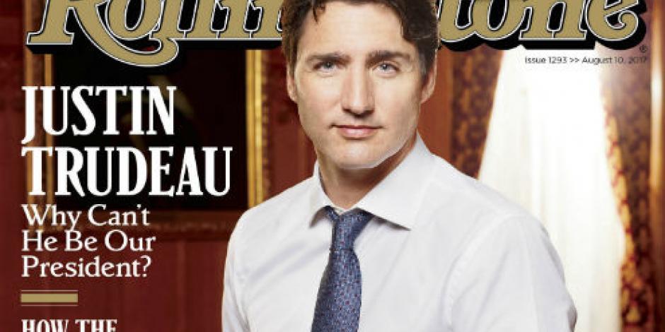 Critica Rolling Stone a Trump con portada de Justin Trudeau