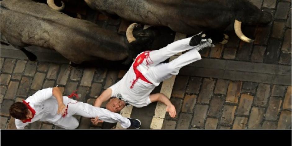 Al menos 10 heridos en el segundo encierro de San Fermín