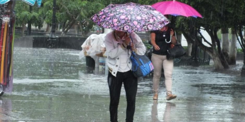 SMN prevé sábado lluvioso en la mayor parte del país