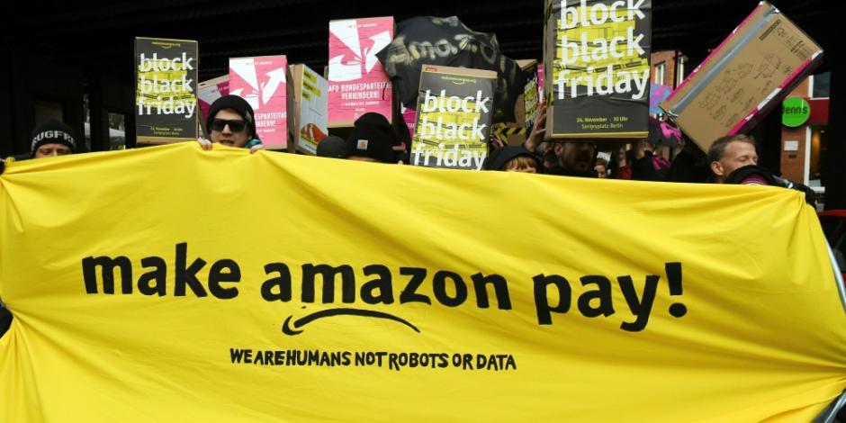 En pleno Black Friday, trabajadores de Amazon se van a huelga