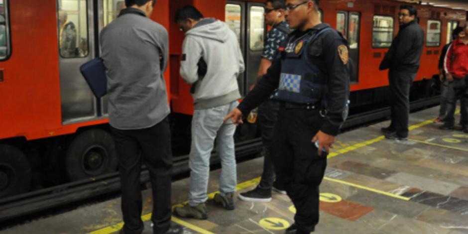 Arrestan a seis por robo y agresiones en el Metro