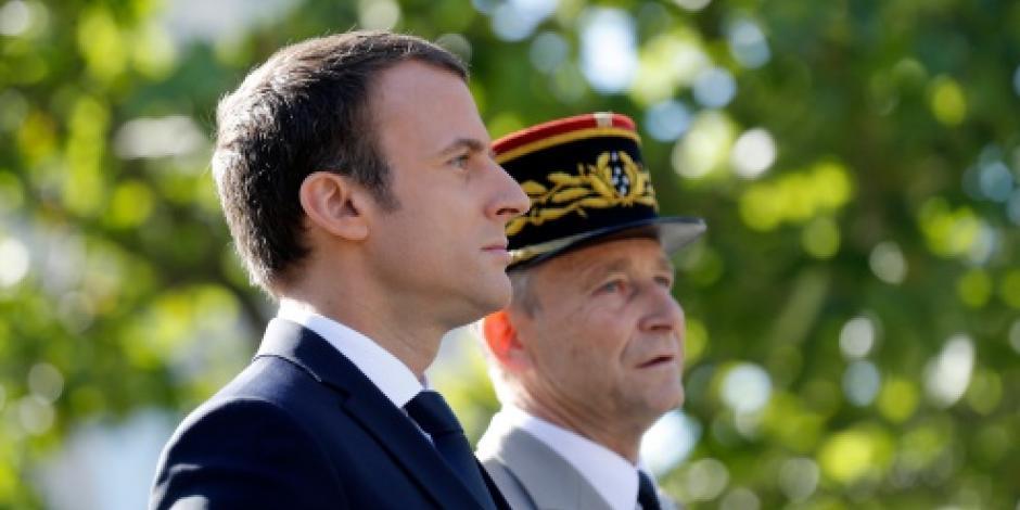 Tras disputa por presupuesto con Macron renuncia el jefe del ejercito francés