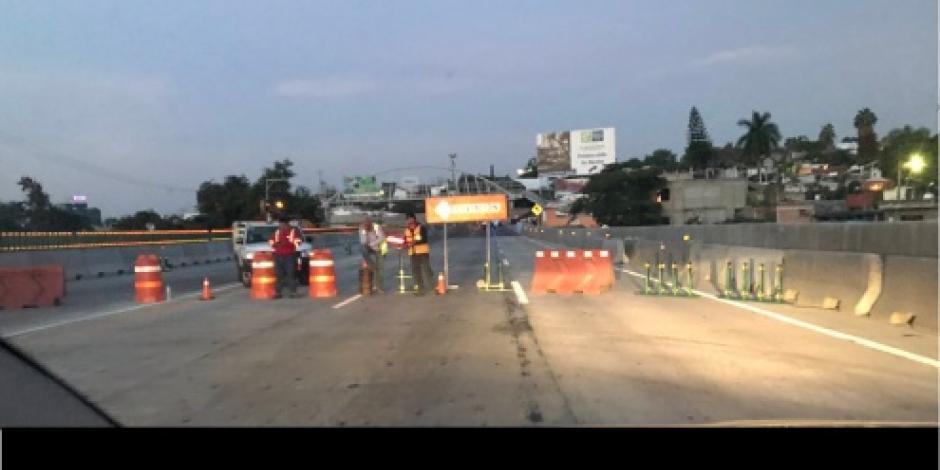Suspenden 4 días tránsito de vehículos de carga por reparación en el Paso Exprés