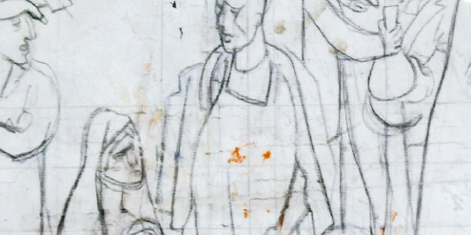 Recibe Museo Diego Rivera bocetos de Pablo O'Higgins