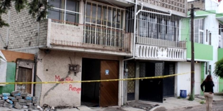 Inhabitables 4 de 10 edificios en unidad Gitana de Tláhuac