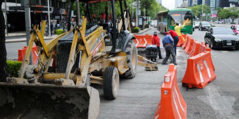 Obras de L7 de Metrobús no han afectado valor histórico de Reforma, afirma GCDMX