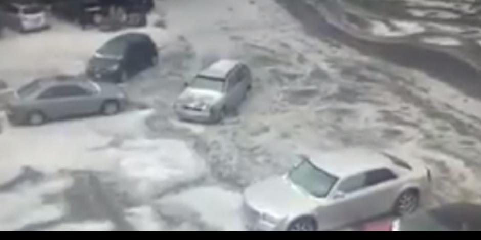 Otra vez reportan caída de granizo en el sur de la CDMX