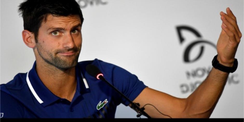Anuncia Djokovic que no volverá a jugar hasta el año próximo