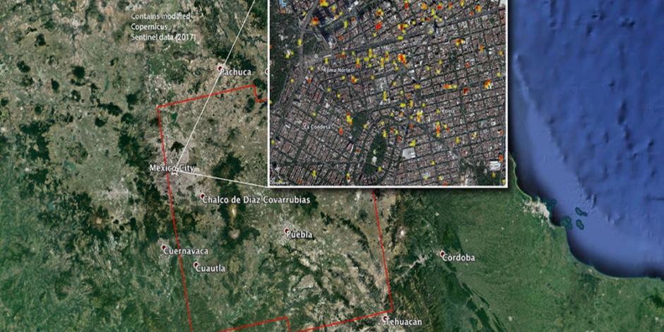 NASA entrega mapa de zonas dañadas al gobierno de México