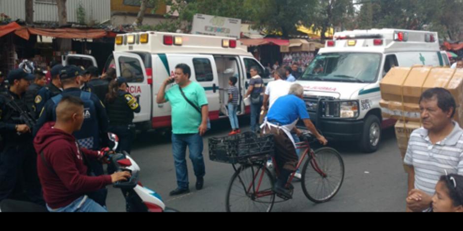 VIDEO: Reportan balacera en Tepito; hay 6 heridos