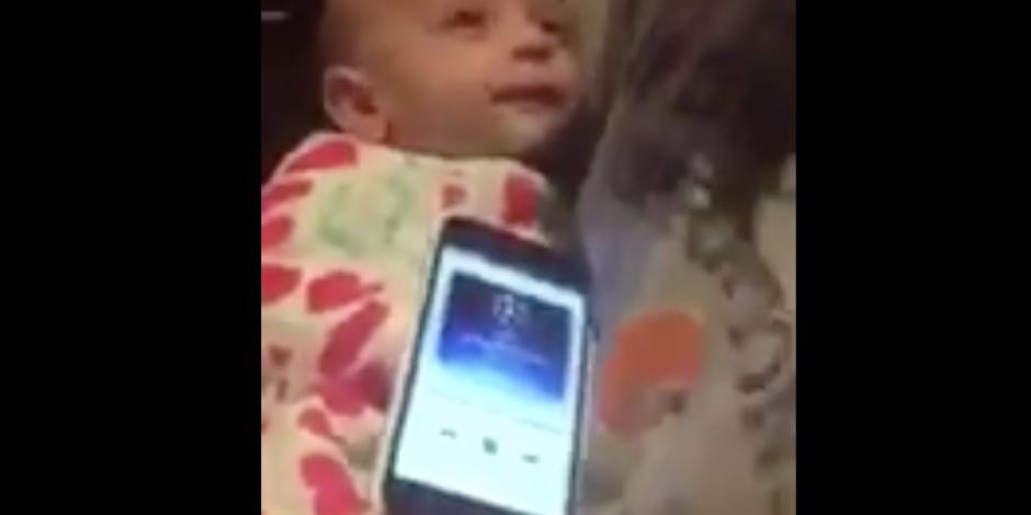 Bebé deja de llorar cuando escucha himno de la Champions