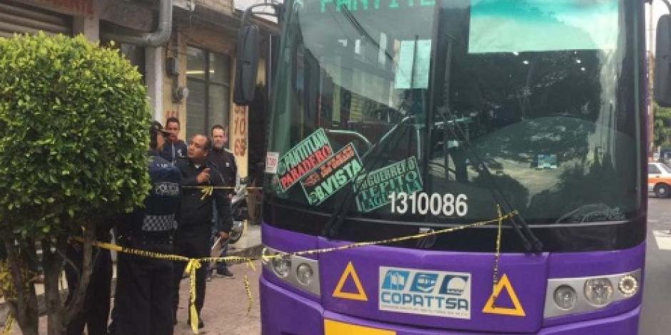 Pasajero mata a presunto asaltante en la delegación Miguel Hidalgo