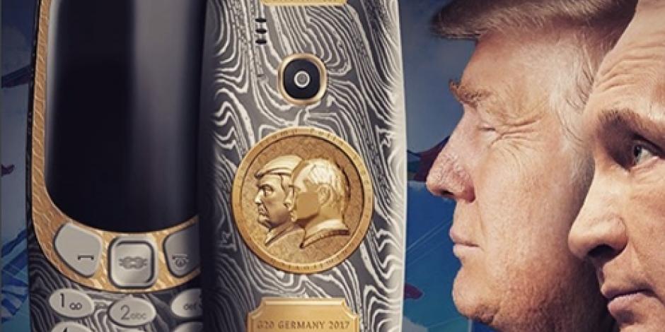 Teléfono con la imagen de Trump y Putin sale a la venta en 45 mil pesos
