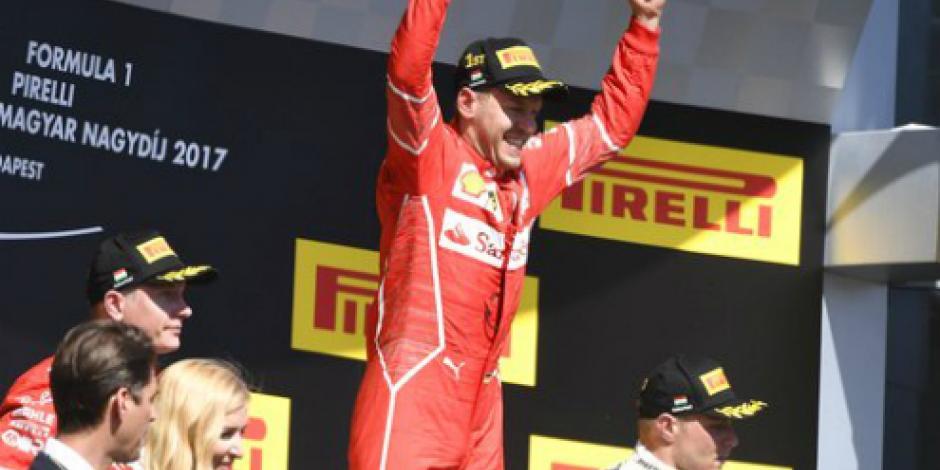 Con todo y problemas mecánicos, Vettel gana el Gran Premio de Hungría