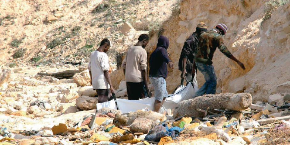 Instalan centros de refugiados en Libia