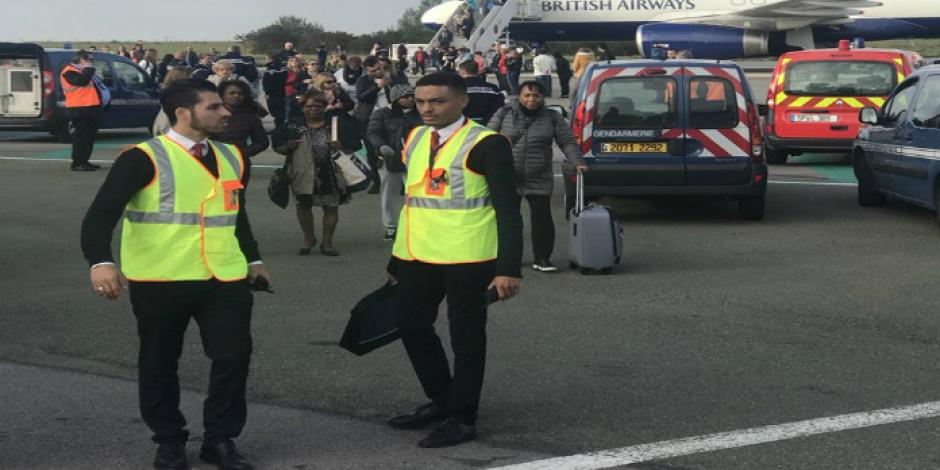 Retrasan vuelo París-Londres por falsa alerta de bomba